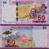 BOLIVIA       50 Bolivianos       P-New       L. 1986 (2018)       UNC  [Series A - Oberthur] - Bolivia