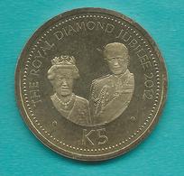 Papua New Guinea - 5 Kina - Queen Elizabeth Diamond Jubilee - 2012 - Papouasie-Nouvelle-Guinée