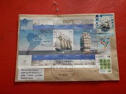L'Argentine Enveloppe Circule Avec Hb De Grands Voiliers Et Les Autres - Argentina