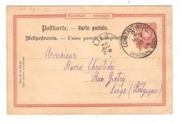 PR6160/ Germany Levant Ganz. PK 10 Pfg C.Constantinopel DEutsche Post 1889 N.Belgien Lüttich - Deutsche Post In Der Türkei