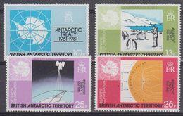 British Antarctic Territory (BAT) 1981 Antarctic Treaty 4v   ** Mnh (41659) - Ongebruikt