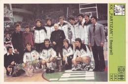 KK PARTIZAN,BEOGRAD CARD-SVIJET SPORTA (B219) - Basket-ball
