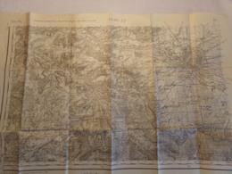 """Carte D'état-major 1930 , """" Carroyage Kilométrique Projection Lambert Zone Nord De Guerre Reims ( Trou ) - Non Classificati"""