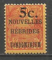 NUEVA HEBRIDES YVERT NUM. 58 * NUEVO CON FIJASELLOS - Leyenda Francesa