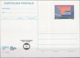 INTERO POSTALE ROMAFIL MANIFESTAZIONE FILATELICA NAZIONALE ROMA 2011 EURO 0,60 - CATALOGO FILAGRANO C271 NUOVA ** - Ganzsachen