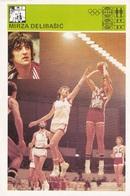 MIRZA DELIBASIC CARD-SVIJET SPORTA (B252) - Basket-ball