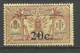 NUEVA HEBRIDES YVERT NUM. 63 * NUEVO CON FIJASELLOS - Leyenda Francesa