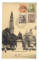 """Historisch Schrijven Van Een Belgische Uit Antwerpen Naar Een Duitser Juist Na De Oorlog """"Geduld Bitte"""" - 1919-1920 Roi Casqué"""
