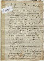 VP14.168 - Département Du Mont - Blanc - 1793 - Projet D'Arrêt De La Municipalité........de La Commune De TANINGES - Manuscripts
