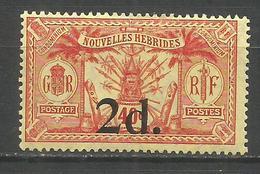 NUEVA HEBRIDES YVERT NUM. 68 * NUEVO CON FIJASELLOS - Leyenda Francesa