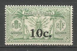 NUEVA HEBRIDES YVERT NUM. 73 * NUEVO CON FIJASELLOS - Leyenda Francesa