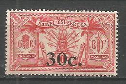 NUEVA HEBRIDES YVERT NUM. 74 * NUEVO CON FIJASELLOS - Leyenda Francesa