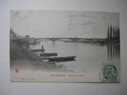 CPA Colorisée  Ris-Orangis. 91. Essonne.Bords De Seine. - Ris Orangis