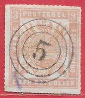 Transvaal N°6 3p Lilas 1870-73 (faux) O - Afrique Du Sud (...-1961)