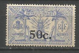 NUEVA HEBRIDES YVERT NUM. 76 * NUEVO CON FIJASELLOS - Leyenda Francesa