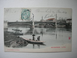 CPA Colorisée  Ris-Orangis. 91. Essonne.Le Pont. - Ris Orangis