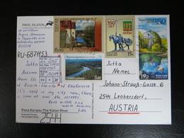 """2015  """" 4 Werte  """"  Auf Karte, Sauber Gestempelt   LOT 1019 - 1992-.... Föderation"""