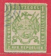 Transvaal N°8 1S Vert 1869 O - Transvaal (1870-1909)