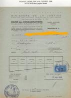 FISCAUX  DOCUMENT 1968  SU N° 373  3F45  BLEU COTE  140 € - Fiscaux