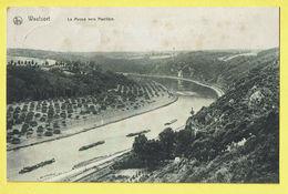 * Waulsort (Hastière - Namur - La Wallonie) * (Ed Nels, Série Waulsort, Nr 37) La Meuse Vers Hastière, Bateau, Péniche - Hastière