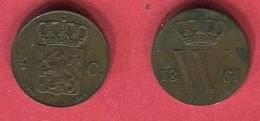 1/2 STUIVER    ( Km 90) TB+ 20 - [ 3] 1815-… : Kingdom Of The Netherlands