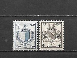 1945 - DAL N. 734/35** AL N. 743**  (CATALOGO UNIFICATO) - France