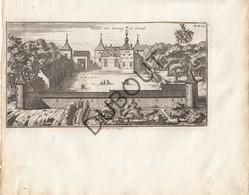 Originele Kopergravure Kasteel Van Corroy-le-Grand Corroy-le-Château J. Le Roy Gegraveerd Door Harrewijn 18de Eeuw (J64) - Documents Historiques