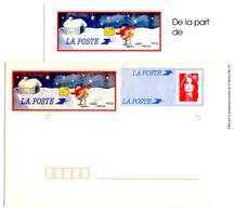 2 Enveloppes Briat Avec Carton La Poste Voeux 1994 - Entiers Postaux