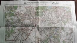 Plan-IGN BELGIQUE   *WATERLOO - LA HULPE*   39/3-4.  M834.  1983 - Cartes Géographiques