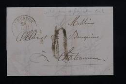 FRANCE - Lettre De Aubusson Pour Châteauroux En 1845 - L 20738 - Marcophilie (Lettres)