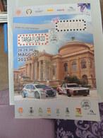 Plakat Affiche MANIFESTO Rally TARGA FLORIO 99 ANNO 2015 Annulli Filtelici E Timbri Manifestazione Peugeot Lancia Delta - Manifesti