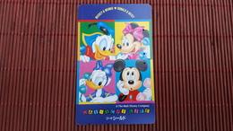 Phonecard Disney Mickey & Minnie Used Rare - Disney