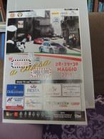 Plakat Affiche Rally TARGA FLORIO 99 ANNO 2015 Annulli Filatelici E Timbri Manifestazione Peugeot Ferrari Collesano - Manifesti