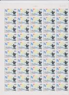 FRANCE 1 Feuille Compléte 50 T 2895 Vendu Sous Valeur Faciale - 1994 - 50 Ans Débarquement En Provence - Ganze Bögen