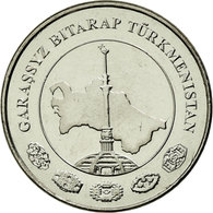 Monnaie, Turkmanistan, 5 Tenge, 2009, SUP, Nickel Plated Steel, KM:97 - Turkménistan