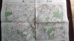 Plan-IGN BELGIQUE   *REBECQ - ITTRE*   39/1-2.  M834.  1984 - Cartes Géographiques