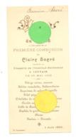 MENU 1902 - LEUVEN / LOUVAIN - Iére Communion De Claire Sacré En La Chapelle De L'Institut Paridaens (b243) - Menus