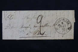 FRANCE - Lettre De Versailles Pour Paris - L 20740 - Marcophilie (Lettres)