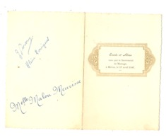 Menu Du Mariage D' Emile Et D' Aline à HERON En 1947 (b243) - Menus