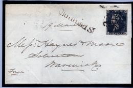 Penny Black On Small Letter 19.03.1841 - 1840-1901 (Regina Victoria)