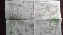 Plan-IGN BELGIQUE   *NIVELLES - GENAPPE*   39/7-8.  M834.  1983 - Cartes Géographiques