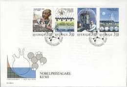 PRIX NOBEL PRIZE NOBELPREIS CHEMISTRY CHEMIE CHIMIE LIBBY NATTA KLUG PRIGOGINE SWEDEN SCHWEDEN  1988 FDC MI 1516 - 1519 - Nobelpreisträger