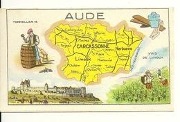 CHROMO FICHE ILLUSTREE HUILE SALVER / LE DEPARTEMENT DE L'AUDE - Géographie