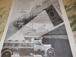 ANCIENNE AFFICHE PUBLICITE DU PUIT DE PETROLE  SHELL 1930 - Transports
