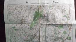 Plan-IGN BELGIQUE   *BRAINE-LE-COMTE - FELUY*   39/5-6.  M834.  1983 - Cartes Géographiques