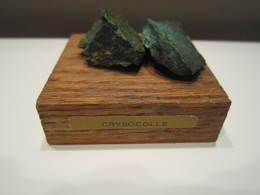 Pierre De Collection Crysocolle (mineraux) Socle 5 X 5 Cm - Minéraux