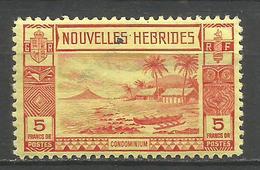 NUEVA HEBRIDES YVERT NUM. 110 * NUEVO CON FIJASELLOS  --PUNTO NEGRO PRECIO REBAJADO-- - Leyenda Francesa