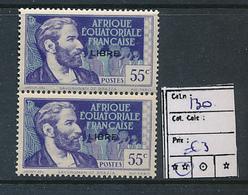 AEF FRANCE LIBRE MAURY DALLAY 130 MNH SANS CHARNIERE PARAFIN GUM - A.E.F. (1936-1958)