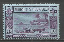 NUEVA HEBRIDES YVERT NUM. 110 * NUEVO CON FIJASELLOS - Leyenda Francesa