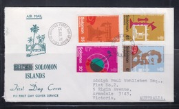 Solomon Islands 1976 Centenary Of The First Telephonic Transmission FDC - Isole Salomone (...-1978)